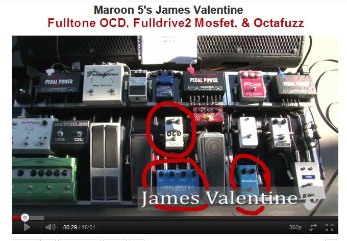 Maroon 5s James Valentines Pedalboard Fulltone Musical