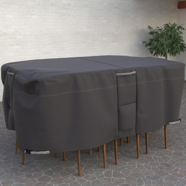taupe collection oval rectangle patio table and chair cover