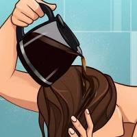 Πήρε μια κούπα καφέ και την έχυσε στα μαλλιά της. Λίγη ώρα αργότερα, ούτε η ίδια δεν πίστευε το αποτέλεσμα!