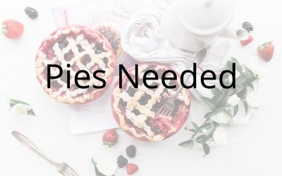 Thanksgiving Pies Needed