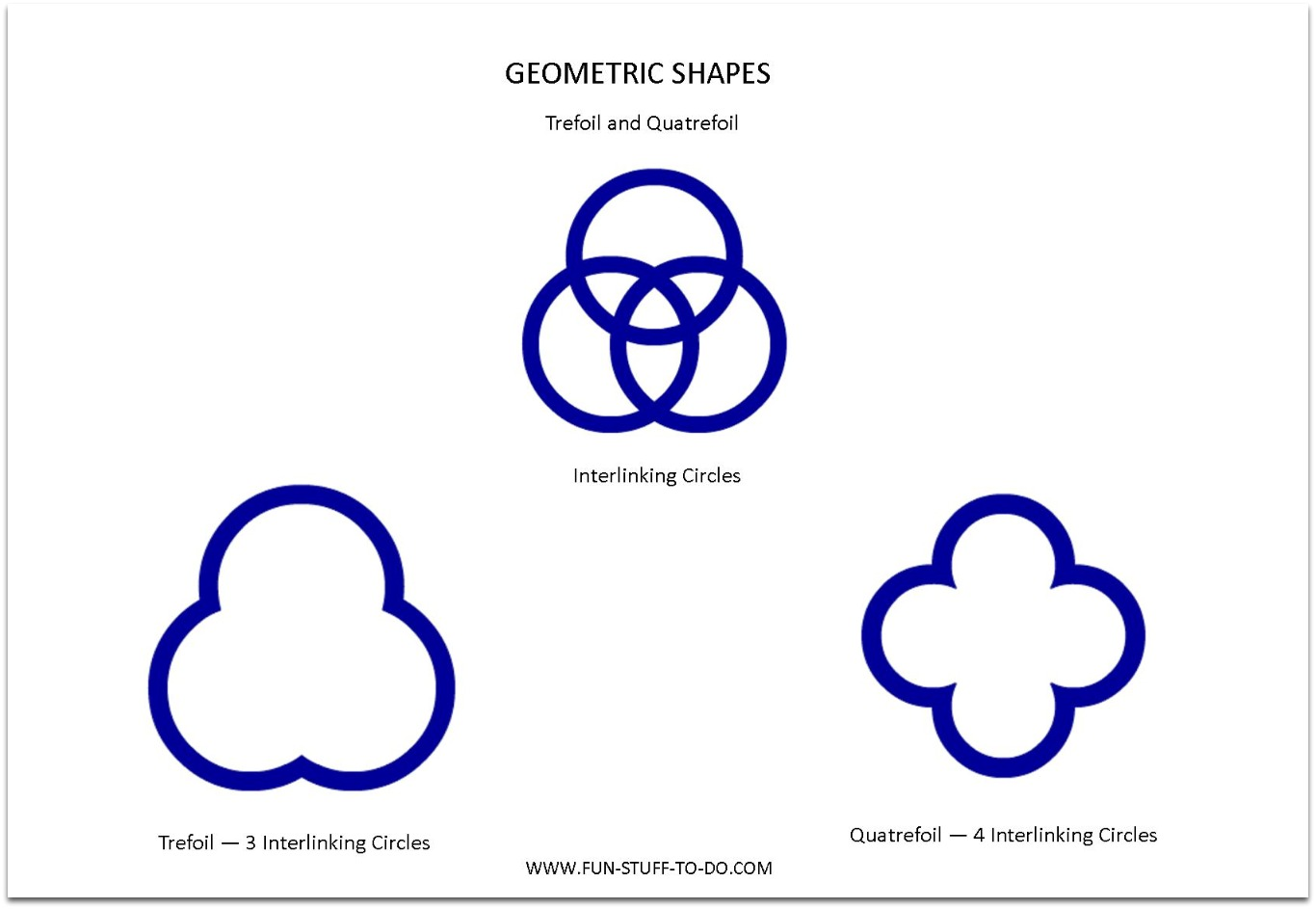 Counting Geometric Shapes Worksheet