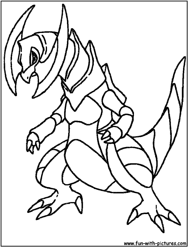 Pokemon dragon coloring pages