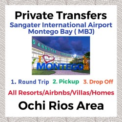 Private Transfer From Sangster International Airport Montego Bay to All Resorts, Villas, AirBnbs & Homes in Ocho Rios Area