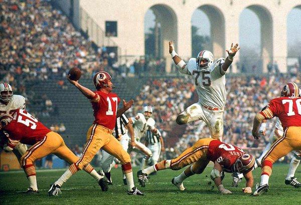 Billy Kilmer and Manny Fernandez - Super Bowl VII, Jan. 14 ...