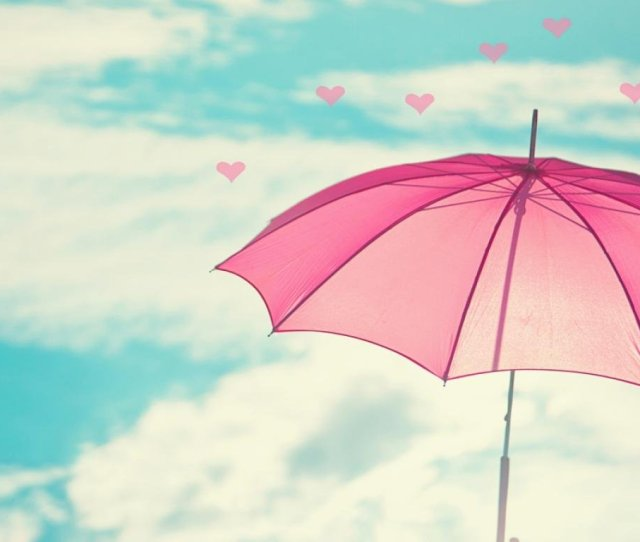 Love Girly Wallpapers Umbrella Love Hearts