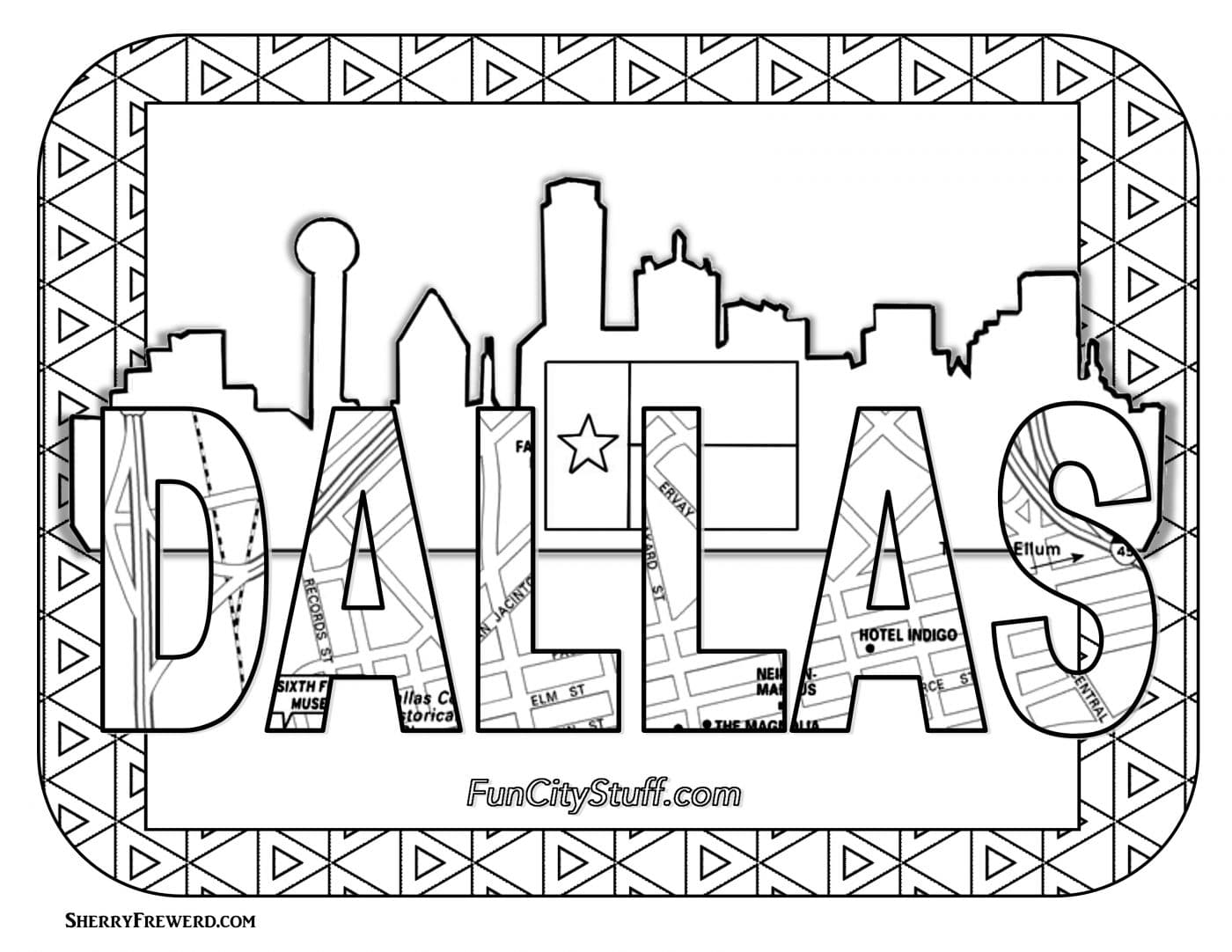 Texas Coloring Book Pages Coloring Page