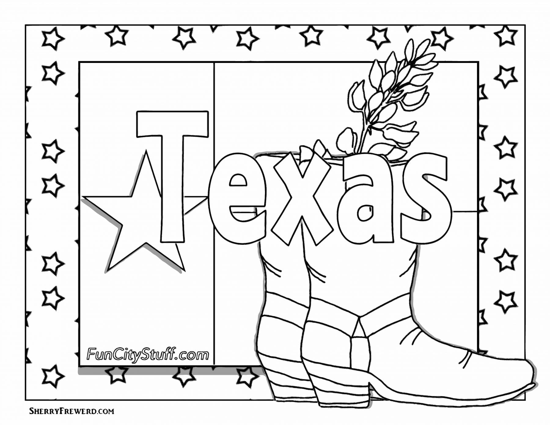 texas symbols coloring pages - photo#9
