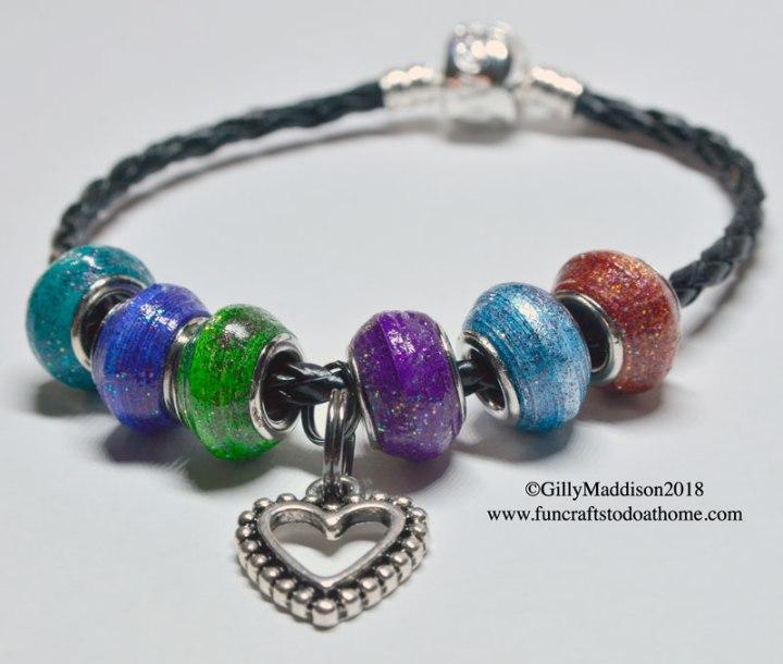 glazing paper beads