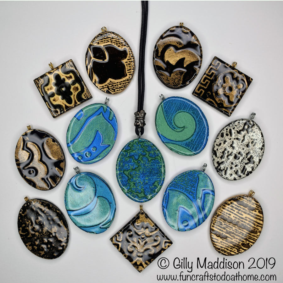 Embossed DIY Pendants – Without An Embossing Machine -Easy!