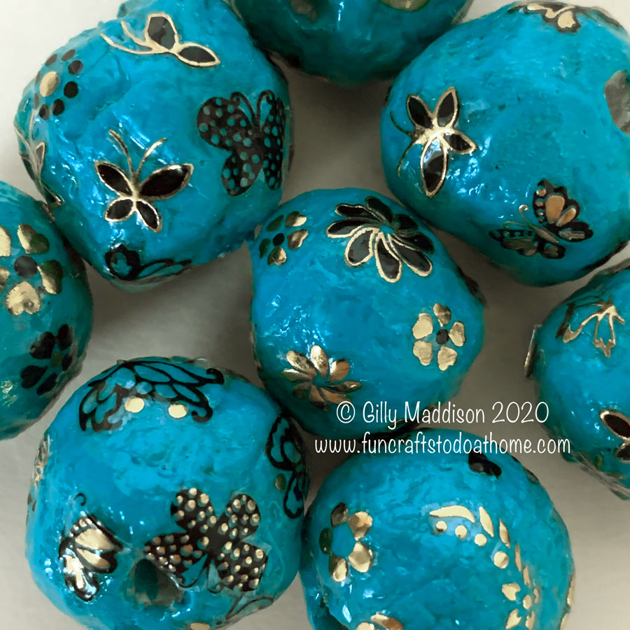 How To Make Round Paper Beads Two Different ways – Plus TWO free downloads!