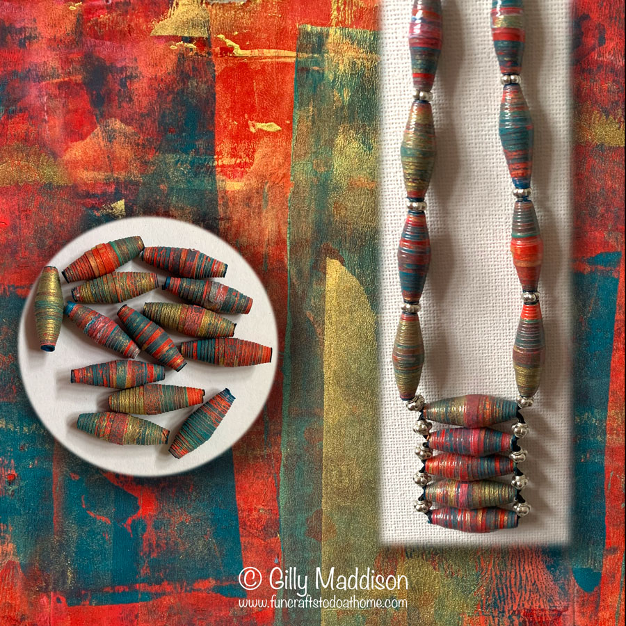 Paper Bead Ideas – Make Paper Beads From Your Gelatin Prints!