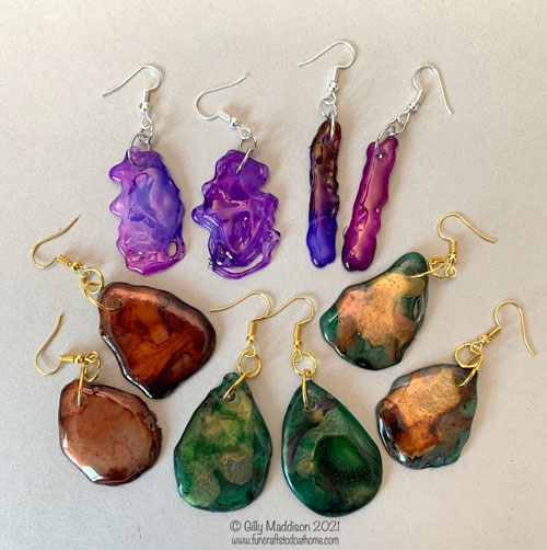 alcohol ink jewelry