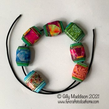 How to string paper beads