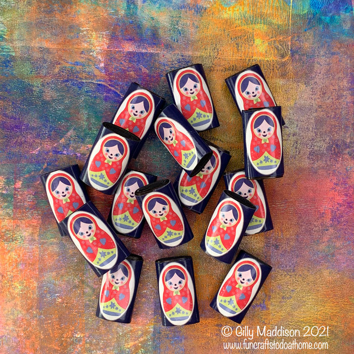 Russian doll paper beads