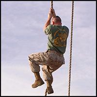 Rope Climbing Like a Marine