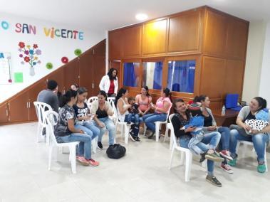 Interior del Centro Comunitario