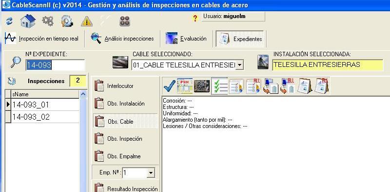 Sistema Experto de Generación de Documentos a través de la Aplicación Informática CableScannII. Validación de modelos de cálculo, año 2014
