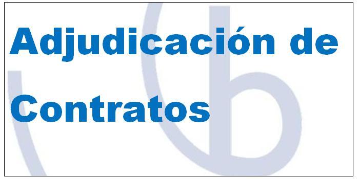 Adjudicación del contrato de I+D, proyecto 2015