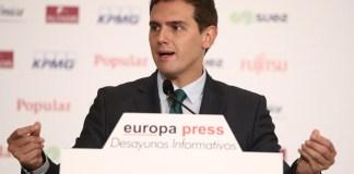 Albert Rivera en los Desayunos Informativos de Europa Press. FOTO: EP