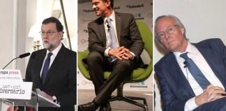 Mariano Rajoy, Manuel Valls y Josep Piqué