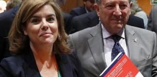Félix Roldán y Soraya Sáenz de Santamaría en una imagen de archivo