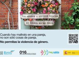 Cuando hay maltrato en una pareja, no son sólo cosas de pareja. No permitas la violencia de género.