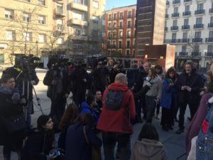 Periodistas en la presentación de la iniciativa