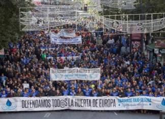 Manifestación La Huerta de Europa