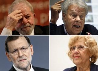 Lula, Felipe González, Carmena, Rajoy