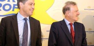 José Rosiñol y Manuel Campo Vidal en el Forum Europa   Foto: Nueva Economía Fórum