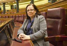 María Jesús Moro, autora del artículo, en su escaño del Congreso. FOTO: Confilegal