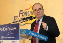 Miquel Iceta en el Forum Nueva Economía