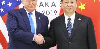 El presidente chino, Xi Jinping, durante su encuentro con el presidente de Estados Unidos, Donald Trump, en la cumbre del G-20 en Osaka, Japón. | Agencia EFE