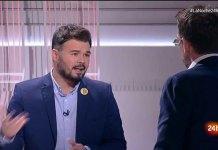 Soy Rufián, no Torra, ni Guardiola, ni Sánchez- FOTO: RTVE