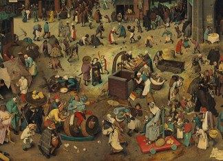 El combate entre don Carnaval y doña Cuaresma (Pieter Brueghel el Viejo, 1559)