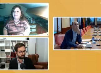 Pilar Requena en un webinar de Casa África