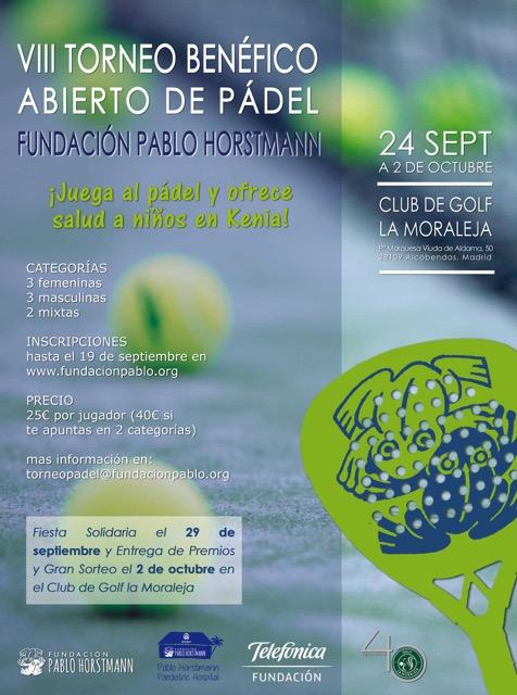 VIII Torneo Benéfico Abierto De Pádel. Fundación Pablo Horstmann