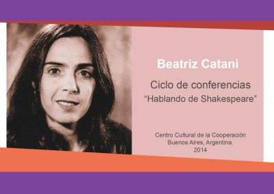 "Beatriz Catani – ""Hablando de Shakespeare"""