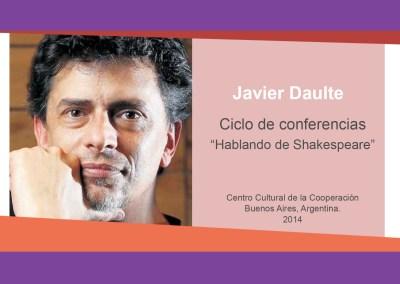 "Javier Daulte – ""Hablando de Shakespeare"""
