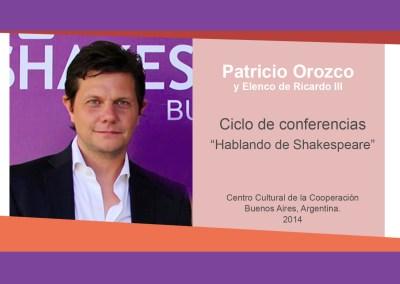 """Patricio Orozco y Elenco de Ricardo III – """"Hablando de Shakespeare"""""""