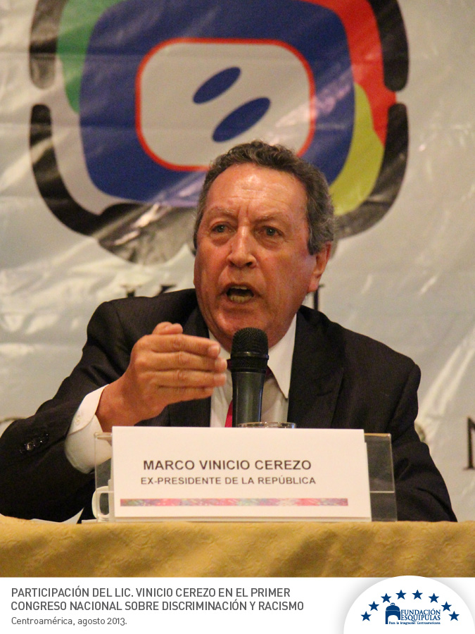 """Vinicio Cerezo: """"El Estado debe rediseñarse para incluir representación de todas las etnias"""""""
