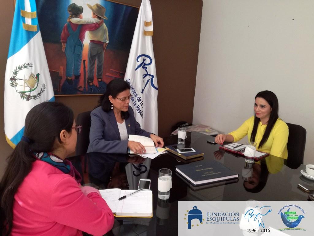 Fortaleciendo lazos de cooperación con la Secretaria de la Paz -SEPAZ