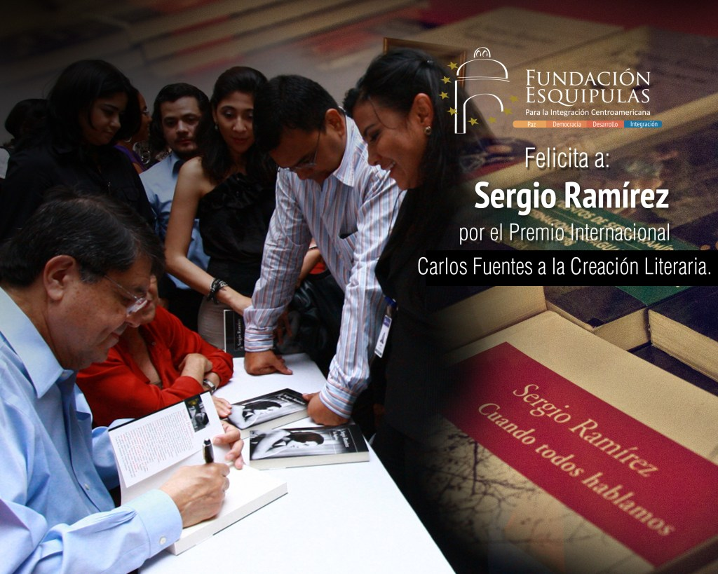 felicitacion Sergio Ramirez