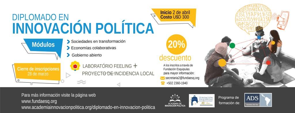 """Tercera Edición del """"Diplomado de Innovación Política"""""""