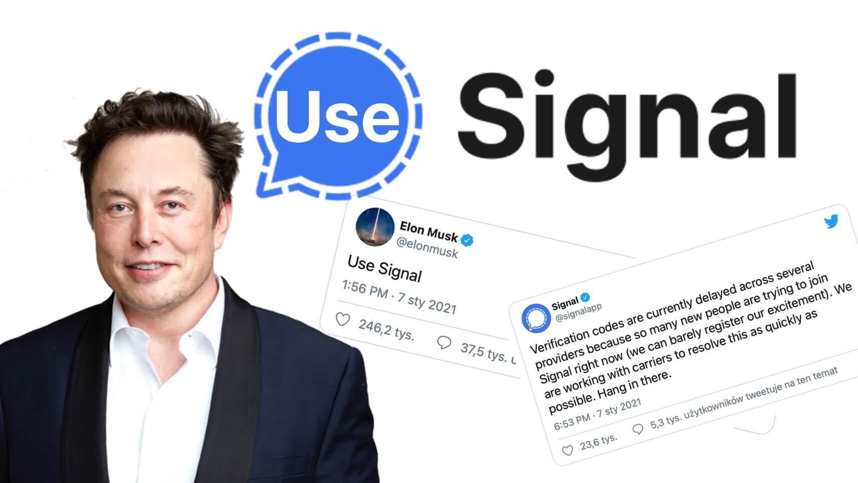 Elon Musk - Use Signal