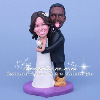 Funny and Humorous African American Wedding Cake Toppers