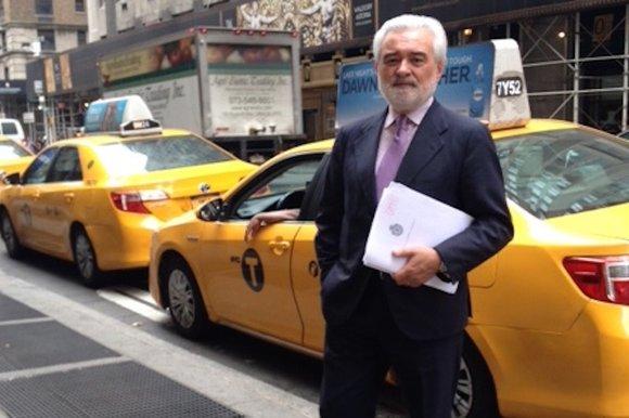 Darío Villanueva, en Nueva York. Foto: Victoria Toro, «La Voz de Galicia».