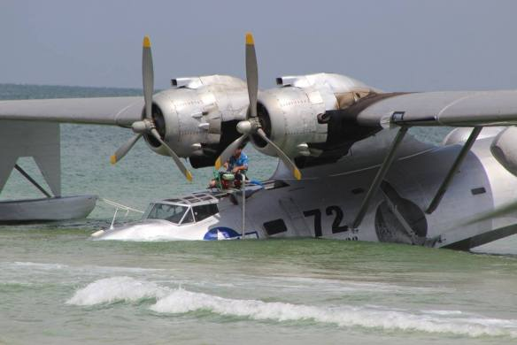 PBY beached at Florabama (c) Sherry Fundin