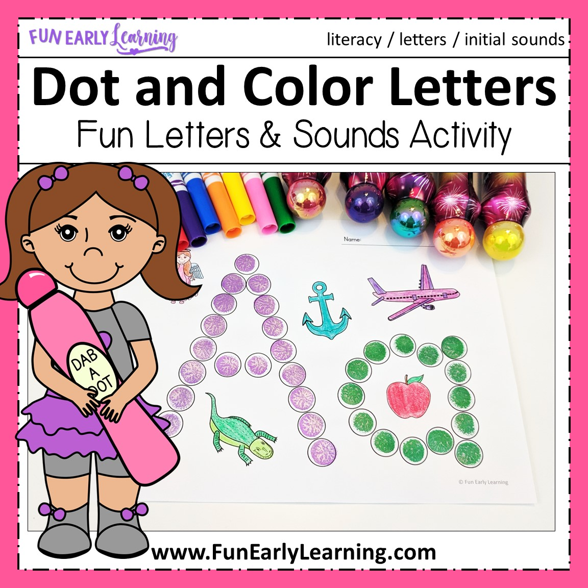 Dot And Color Letters Amp Sounds