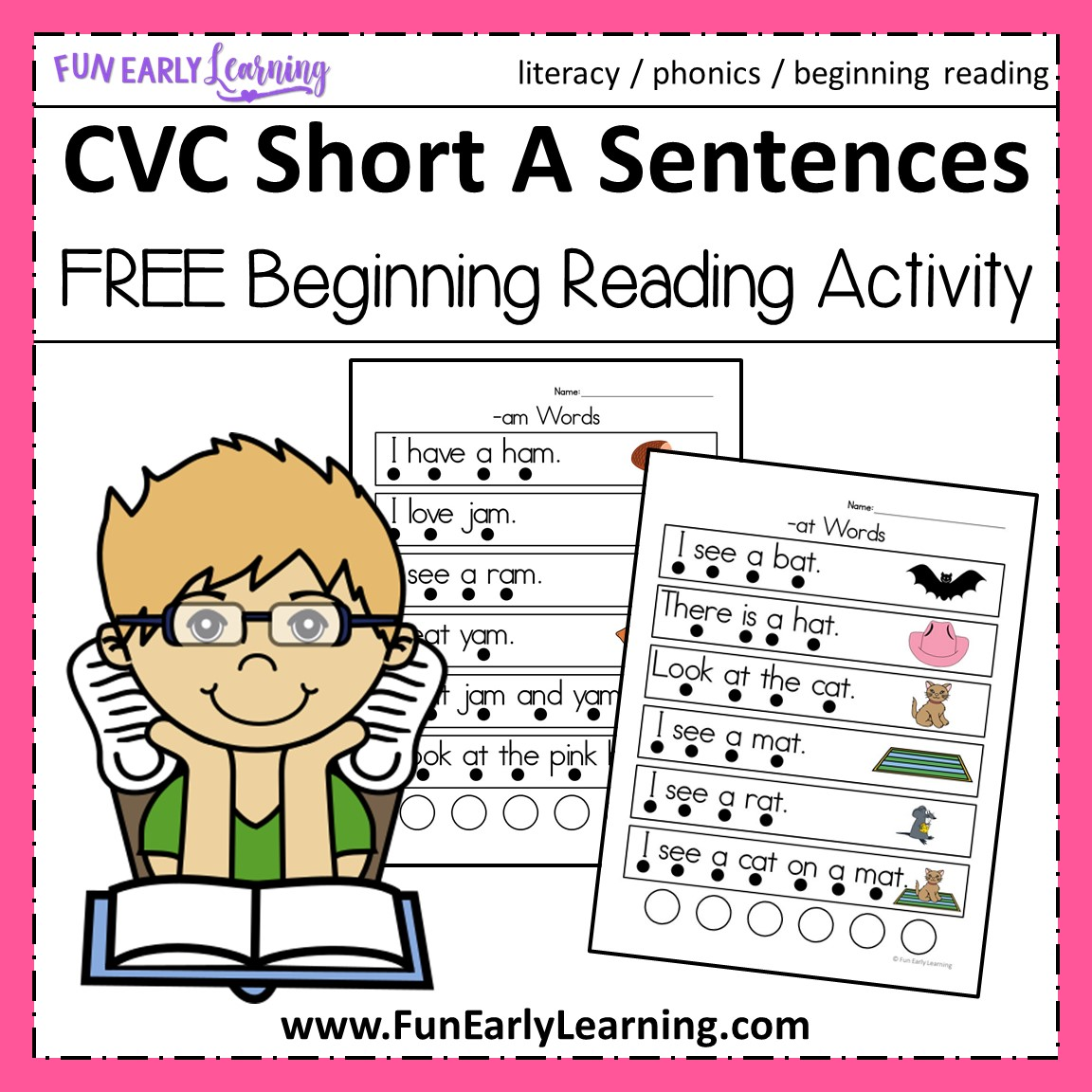 Cvc Short A Sentences